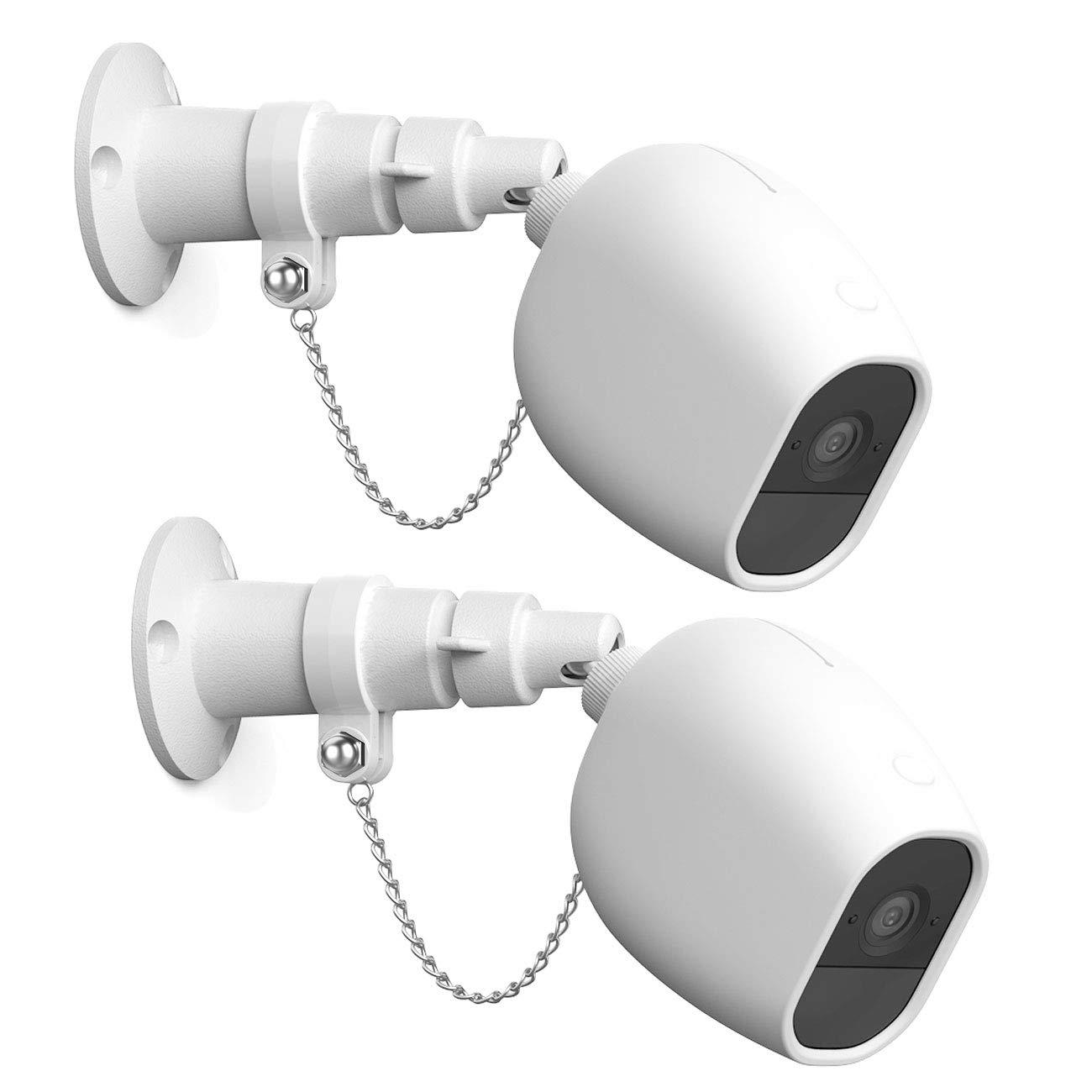Halterung f/ür Arlo Pro 2 und Arlo Pro Verstellbare Indoor//Outdoor Halterung mit Anti-Diebstahl-Kette und Wasserdichter Arlo Pro 2 Skin Wei/ß 2 Packe