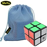 MoYu LingPo 2x2x2 Speed Puzzle Cube Toy Brain Tester Black + One MoYu Cube Bag