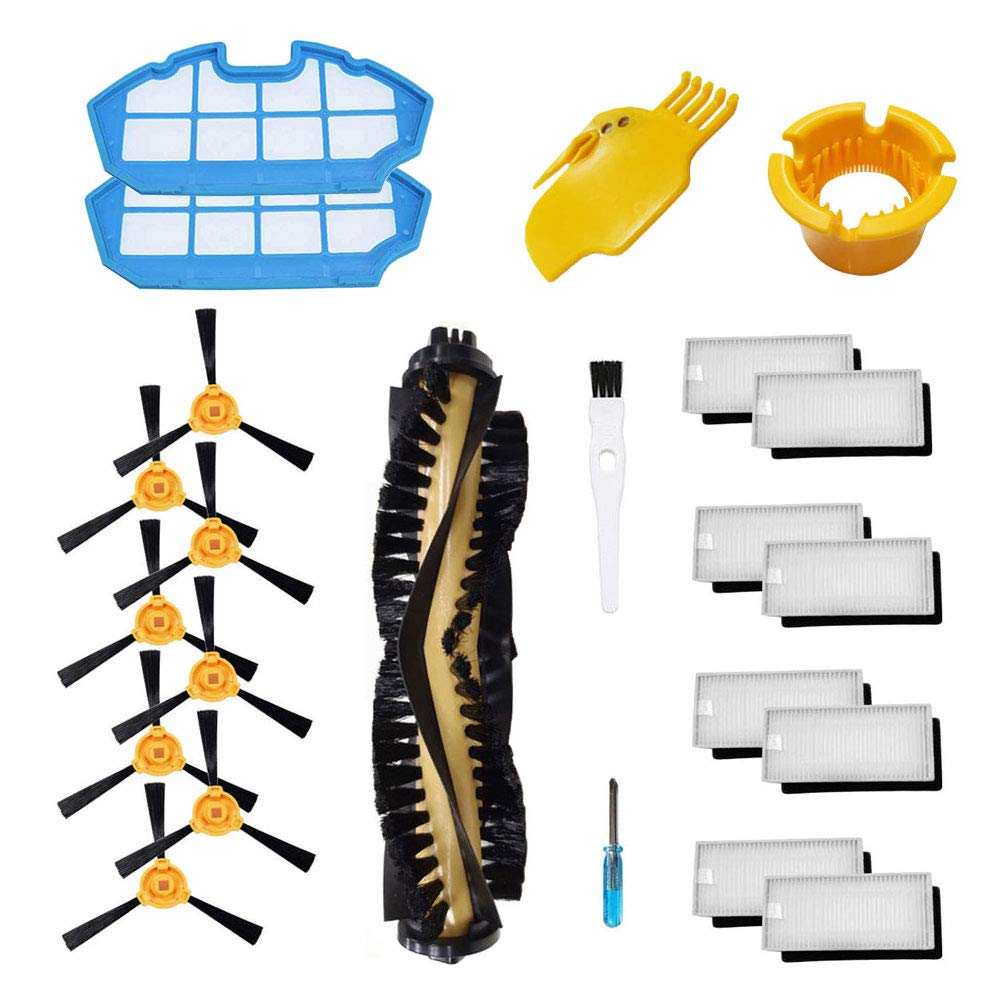 Theresa Hay Replacement for DEEBOT N79S Main Brush, Filter, Side Brush Accessory Kit for Ecovacs DEEBOT N79 N79S Robotic Vacuum Cleaner Parts