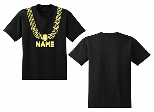 c165cf852 Amazon.com  Men s Gold Chain T-shirt