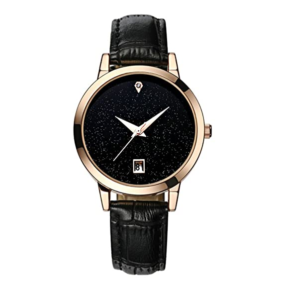 Relojeras Mujeres Relojes Cuarzo Reloj Mujer Cuero Impermeable Reloj Moda Romántico Mujer Relogio Faminino Montre Femme: Amazon.es: Relojes