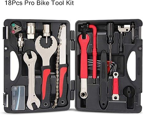 Kit de herramientas de servicio de bicicleta 18 en 1, bolsa de ...