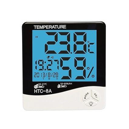 Termómetro digital para habitación, higrómetro digital, pantalla de temperatura de humedad interior, termo