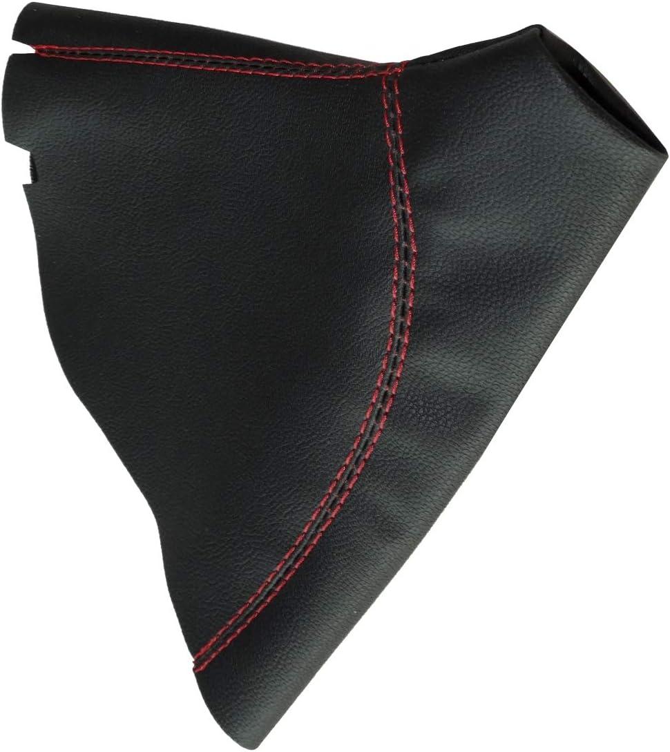 Soufflet de levier de vitesse en simili cuir avec couture//surpiq/ûres couleurs variables noir avec surpiq/ûres noires AERZETIX