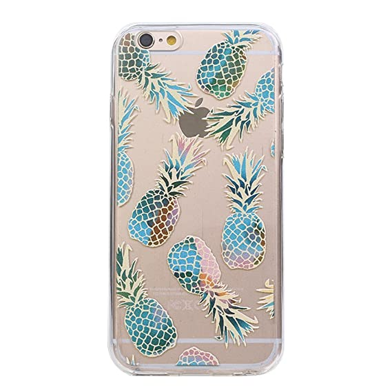 Amazoncom Iphone 6s 6 Case Foxycases Colorful Pineapple Clear