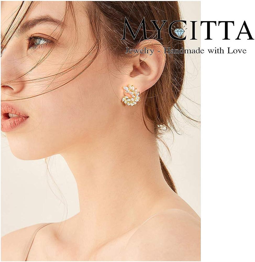 Pearl Bridal Studs Wedding Pearl Earrings Wedding Leaf Earrings Bridesmaid Gold Studs Long Bridal earrings Gold Leaves Bridal Earrings