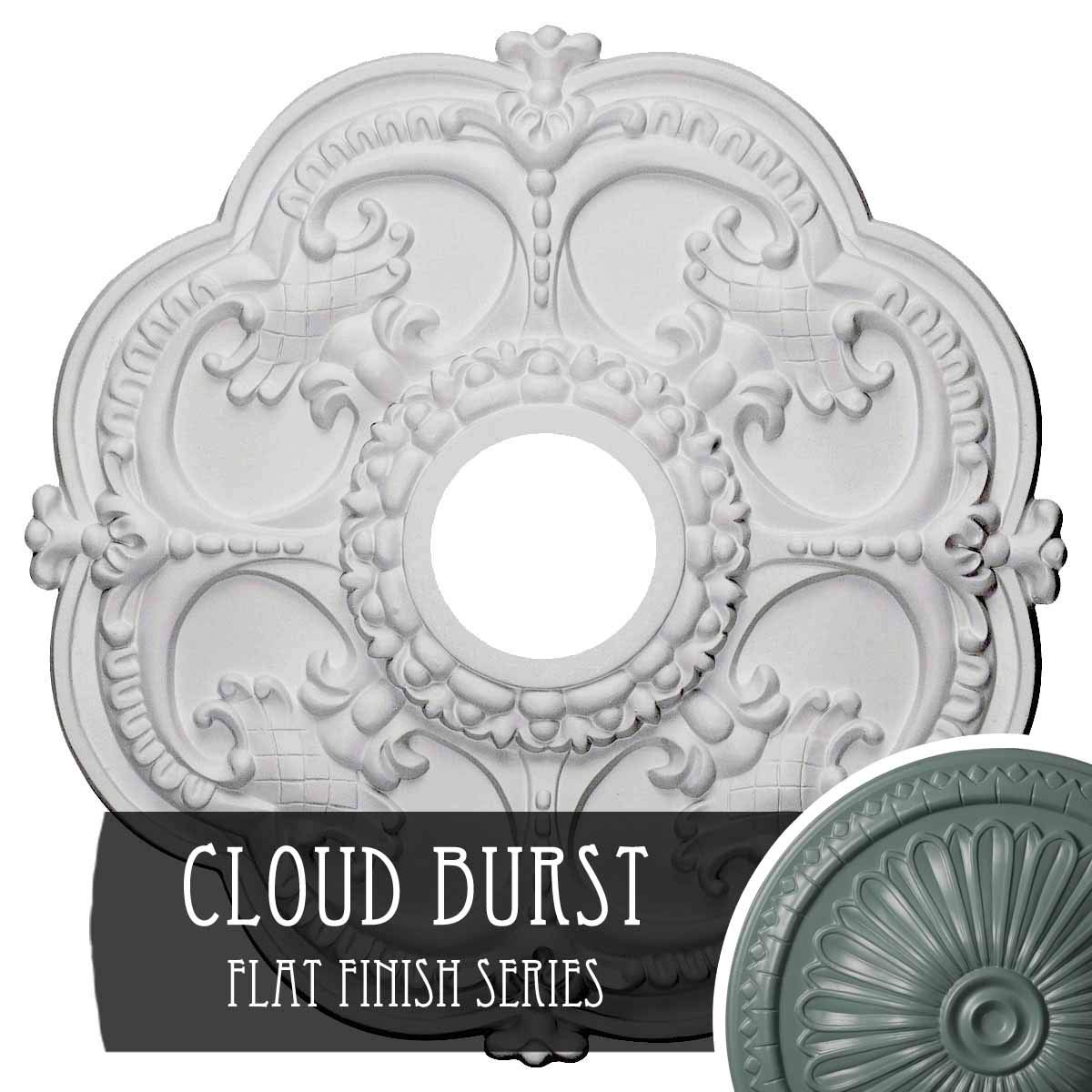 Cloud Burst Ekena Millwork CM17ROUWF redherham Ceiling Medallion, 18 OD x 3 1 2 ID x 1 1 2 P, Ultra Pure White