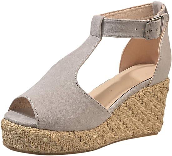 achat spécial Femme chaussures Tresse Sandales compensées en