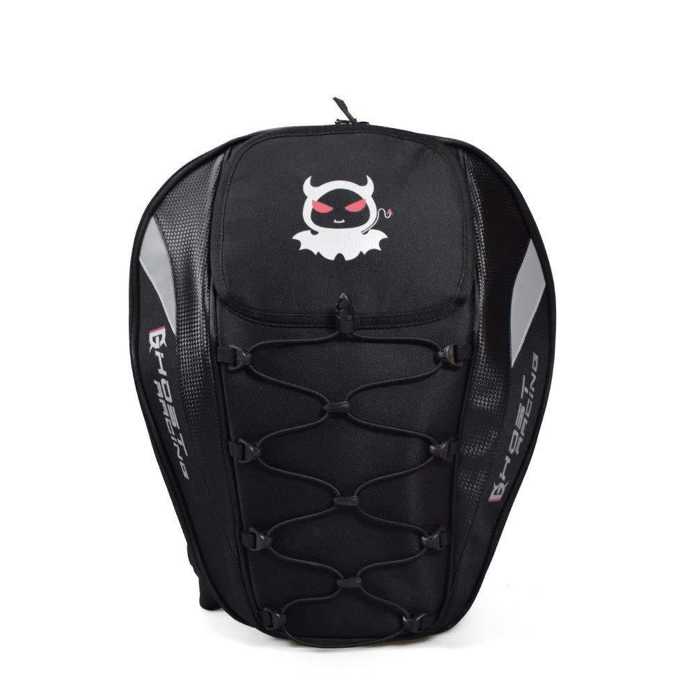 Waitousanqi 多機能スポーツバックパック/オートバイテールバッグレーシングバックシートバッグバックパックナイトヘルメット機関車高容量バックパック A15