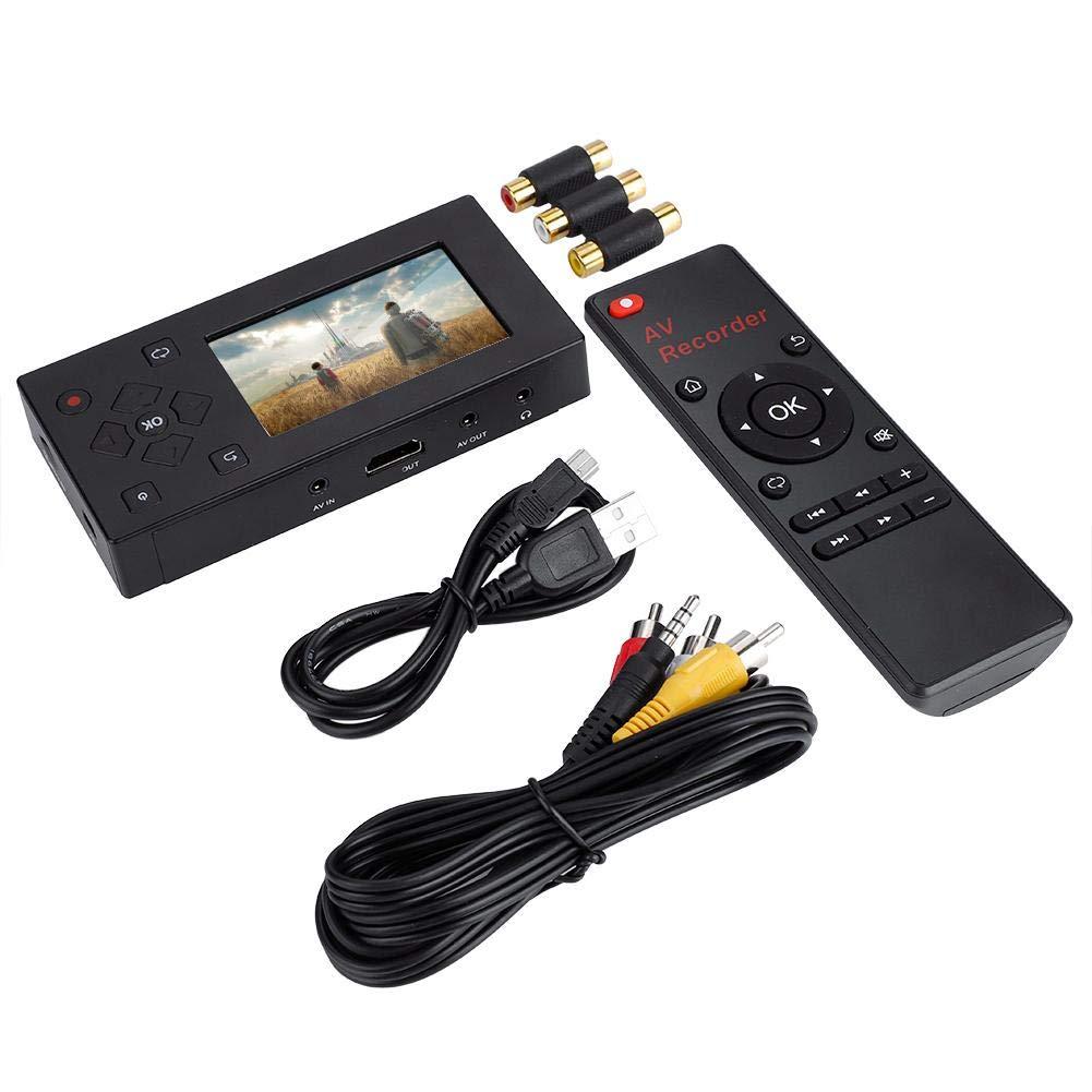 Mugast Video Grabber,3 Zoll TFT Bildschirm Video Grabber Videob/änder AV-Recorder Konverter,Tragbar Audio-//Videorecorder Echtzeit Video Wiedergabe mit Mikrofon,Unterst/ützt SD-Karte//USB2.0