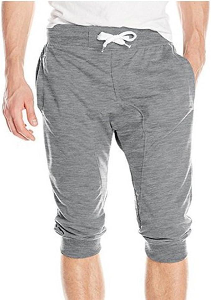 Hombre Verano Pantalones Cortos - Moda Cintura Media Slim Fit ...