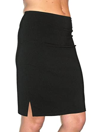 ICE (2356) stretch pencil skirt smart casual black (6)