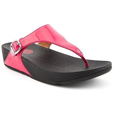 c1adb4ffdb9b Fitflop Ladies Skinny Pink Patent Flip Flops Size 8  Amazon.co.uk ...