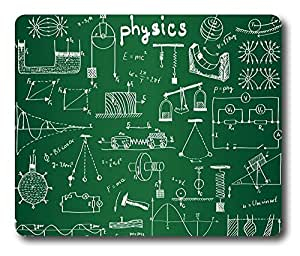 Online Designs Physics Green formula Square mouse pad gaming pad 9 * 7.5inch by runtopwell