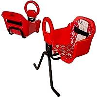 Cadeira De Bicicleta Dianteira Frontal Cadeirinha luxo (Vermelho)