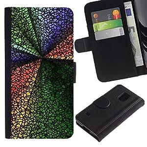All Phone Most Case / Oferta Especial Cáscara Funda de cuero Monedero Cubierta de proteccion Caso / Wallet Case for Samsung Galaxy S5 V SM-G900 // Abstract Colors
