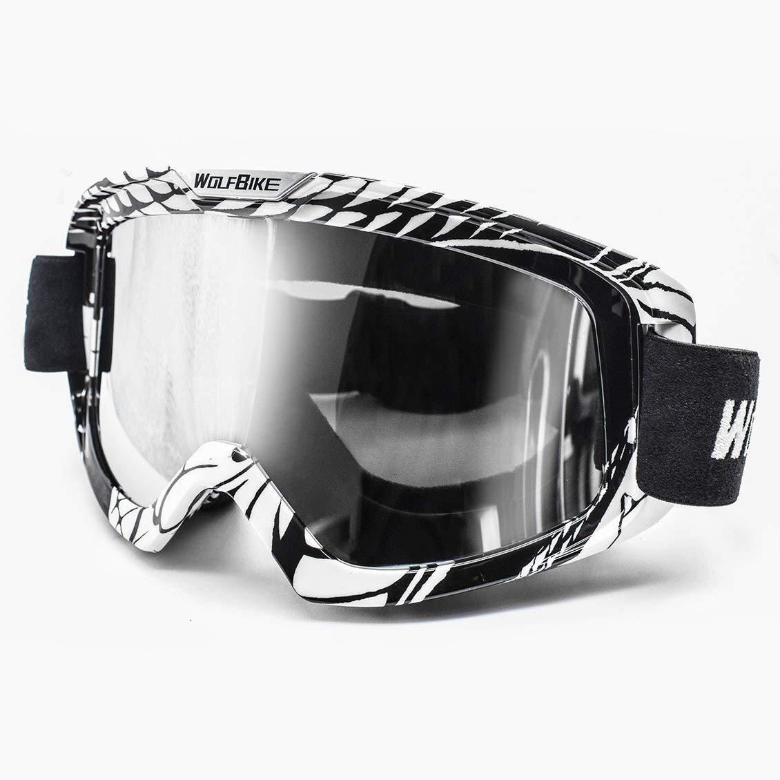 ForceSthrength Lunettes de Ski Anti-bu/ée Wolfbike BYJ-019 Lunettes de Motocross Respirantes en Snowboard
