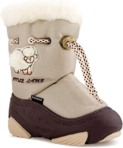 pour doublure Avec Petit Bottes laine DEMAR d'hiver enfant F1JlTuKc3