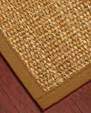 NaturalAreaRugs Nevada Mountain Grass Rug - Sienna, Cotton Border, Eco-Friendly, 2' x 3'