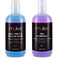 Mylee Nail Gel Polish Prep Wipe + Remover Cleanser UV LED Manicure Acetone 250ml