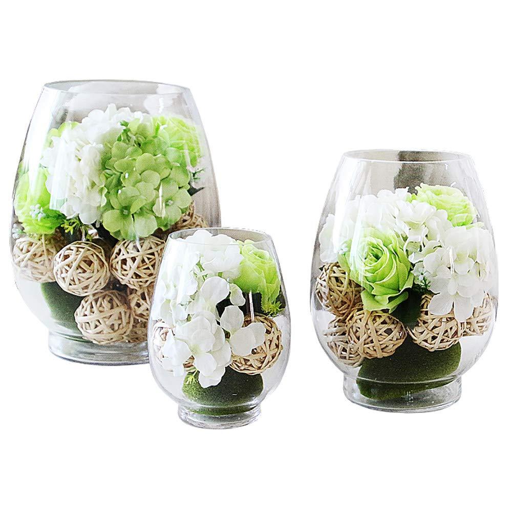 結婚式/ホームデコレーション/ホリデーギフトに適した花瓶、北欧のクリエイティブジュエリー/フェイクフラワークラフトを持つ造花 B07QMC2CLN