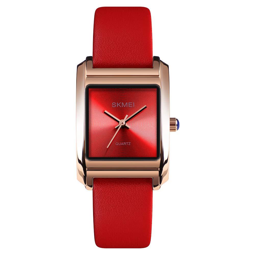 Womens Watches Analog Quartz Wristwatch Business Casual Watch Unique Dress Watch Square Dial Strap Fashion Ladies Watch 30M Waterproof