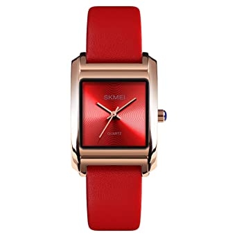 Womens Analog Watches Quartz Wristwatch Business Casual Watch Unique Dress Watch Square Dial Strap Fashion Ladies