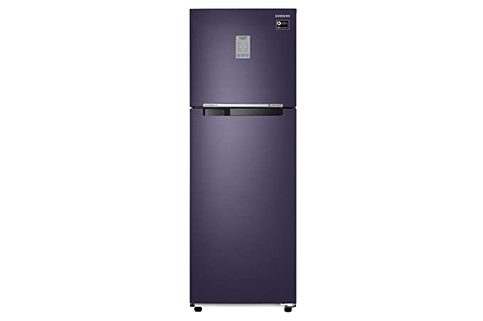 Samsung 253 L 3 Star Frost Free Double Door Refrigerator(RT28M3743UT/HL, Pebble Blue, Convertible, Inverter Compressor)