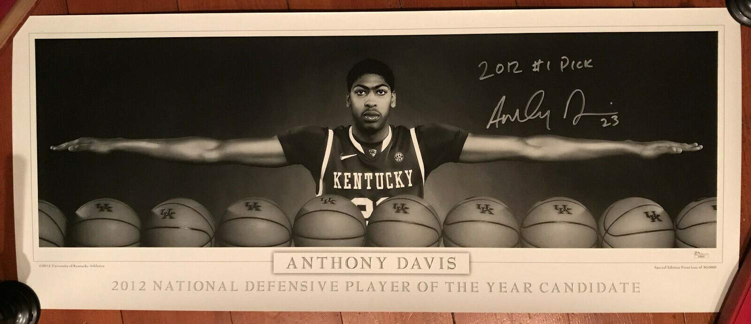 Anthony Davis Autographed Signed Memorabilia Uk Kentucky