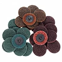 INSMA 2 inch Roloc Quick Change Discs 30Pcs Sanding Discs 1Pcs 1/4'' Holder, Surface Conditioning Discs, for Die Grinder Surface Prep Strip Grind Polish Finish Burr Rust Paint Removal