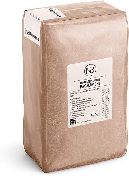 Nb Minerals Basalt Flour Primal Rock Flour Basalt Powder Volcanic Dust Mineral Fertiliser 20 Kg Amazon De Garten