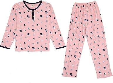 Pijamas De Las Mujeres Mangas Largas Pijamas Casuales Dibujos ...