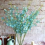 SU@DA Single - branch dance blue 6 - color high - end European - style simulation of fake plants wedding decoration 10pcs , blue at least 10