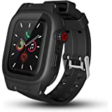 Apple Watch 5 Case - 44mm Waterproof iWatch Series 4 5 Case 2020 New Apple Watch Fifth 5th Case Shockproof Dustproof Rugged Full Protection Bumper Case for Men Women