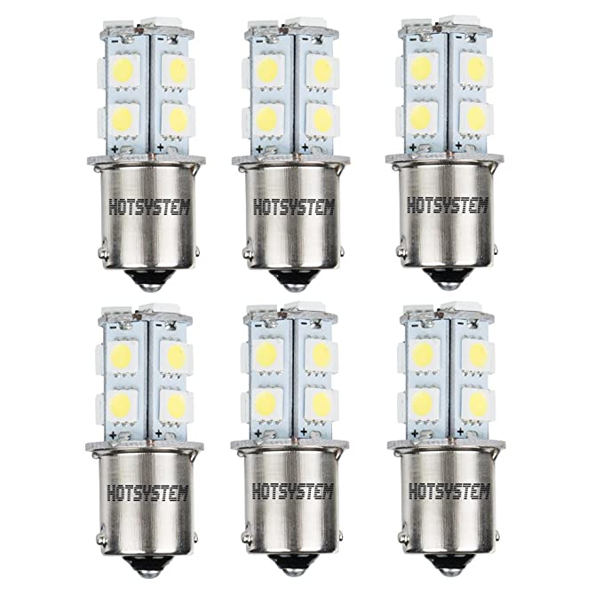 2 opinioni per HOTSYSTEM 12V 6 x 1156 Ba15s Auto 13 SMD Luci LED Lampada per Auto illuminazione