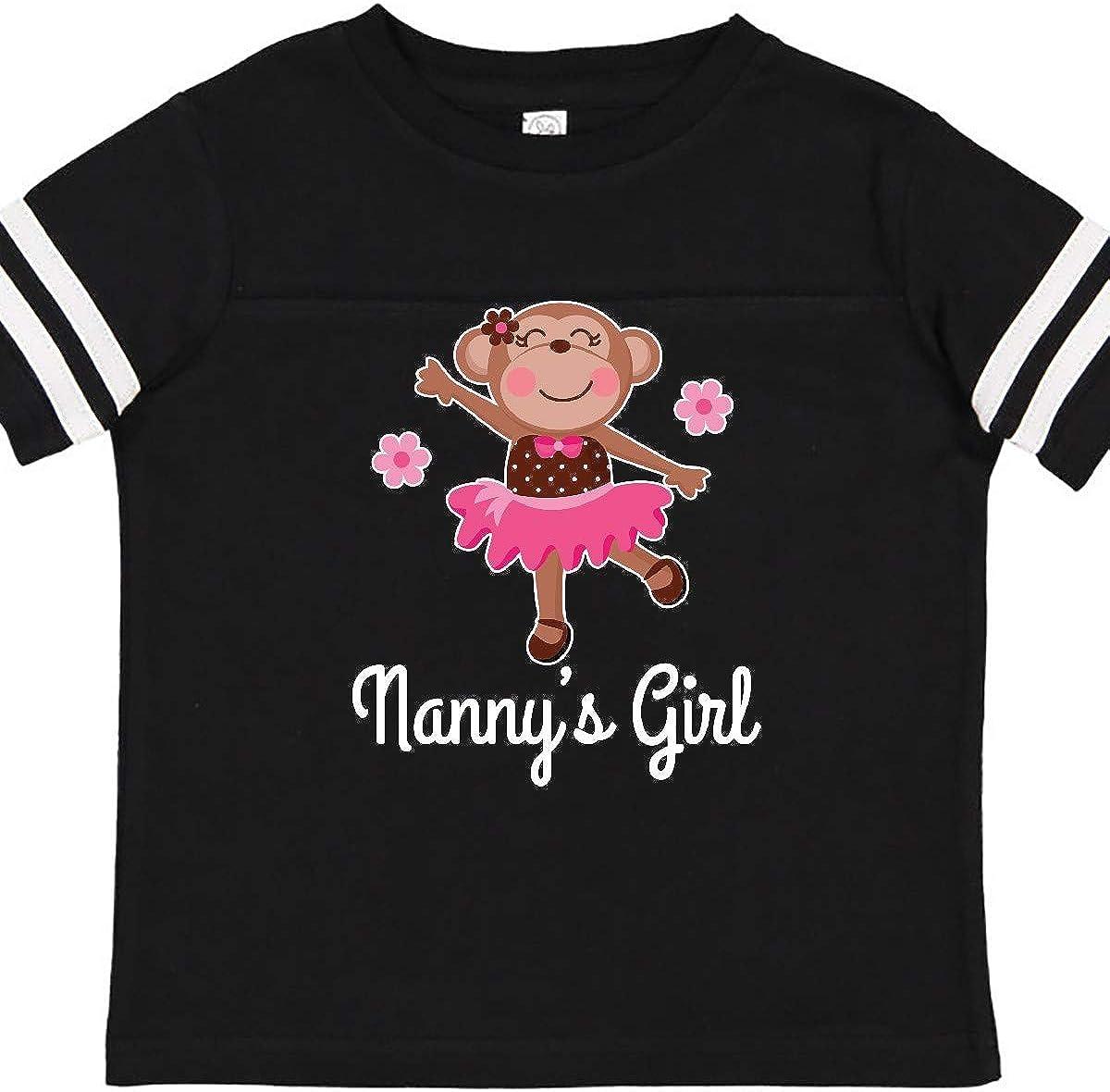 inktastic Nanny Girl Ballerina Monkey Toddler T-Shirt