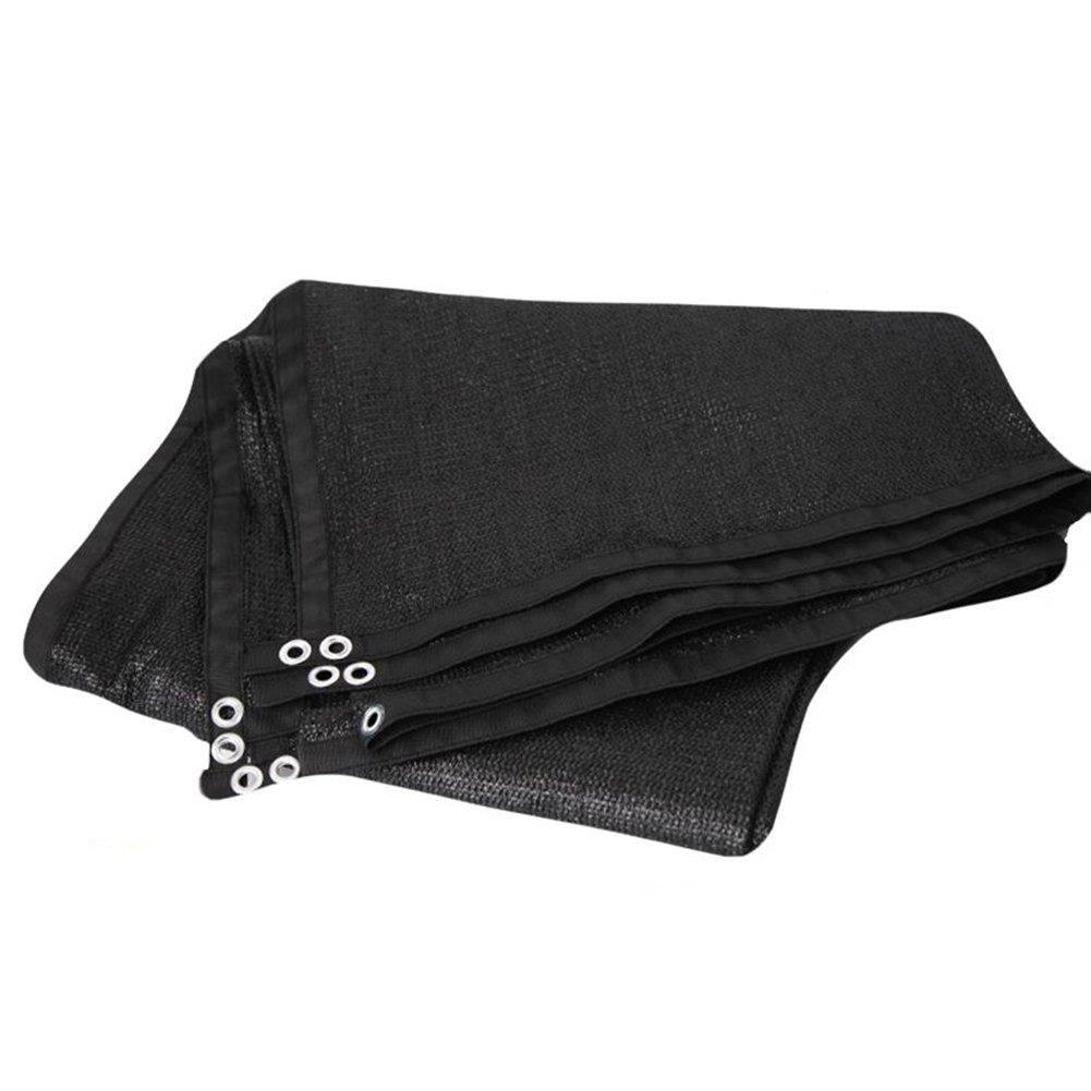 HAIPENG Schattierungsnetz Verdicken Schatten Netting Plane Blatt Bodenbedeckungen Verschlüsselungsnetz Sonnenschutznetz Wärmeisolierung (Farbe   schwarz, größe   3x3m)