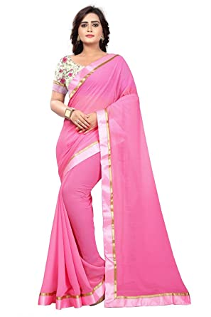 94c654aa5a Amazon.com: Jaanvi fashion Women's Marble Chiffon Saree with Digital ...