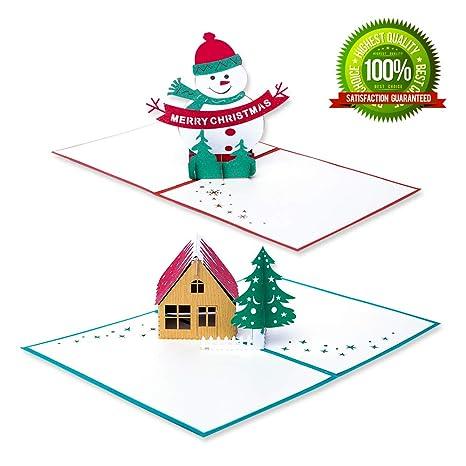 Amazon.com: Tarjetas de Navidad hechas a mano, tarjetas de ...
