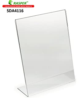 NISUN Double Sided Clear Acrylic Display Stand A4 Paper