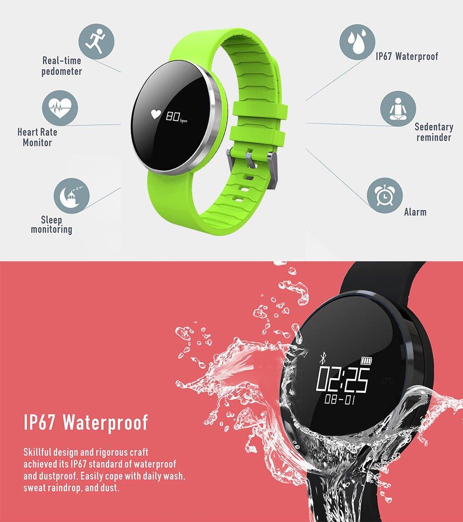 Protea Smartwatches Impermeable Bluetooth 4.0 Aptitud Reloj de ...