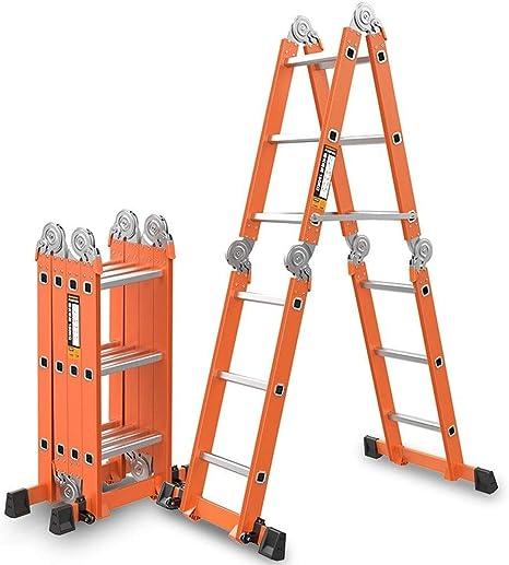 T-Stepladder Taburete de Escalera Escalera Plegable Multifuncional Escalera Extendida 6 en 1 Plataforma de Aleación de Aluminio Andamio Retráctil Escalera Telescópica Trapezoidal, con 330 Lbs, 2.: Amazon.es: Deportes y aire libre