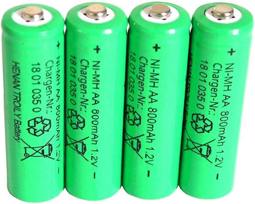 4 Er Set Solar Akku Leistungsstarke Wiederaufladbare Batterien Aa Nimh 800mah Beleuchtung