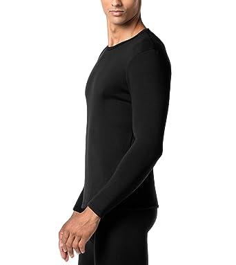 0a19827c34 LAPASA Men's Heavyweight Thermal Underwear Top Fleece Lined Base Layer Long  Sleeve Shirt M26 (Black