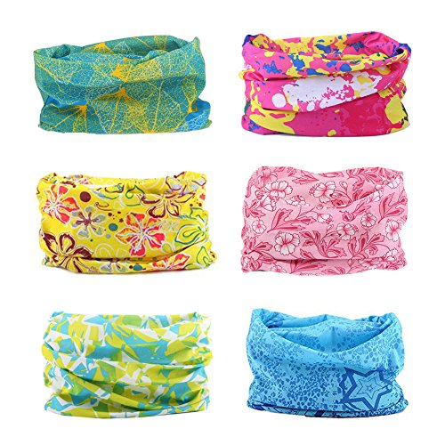 12 in 1 Wide 4pcs&8pcs Assorted Seamless Headbands for Men and Women Athletic Moisture Wicking Headwear for Sports Workout Yoga Multi Function Bandanna Headwrap Scarf Wrap (A1)