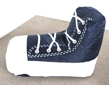 Astounding Amazon Com Shoe Boot Bean Bag Seat Sneaker Style Blue Unemploymentrelief Wooden Chair Designs For Living Room Unemploymentrelieforg