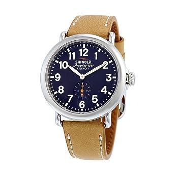 347186334 Amazon.com: Shinola Detroit Unisex The Runwell 41mm - 10000144 Midnight  Blue/Natural: Watches