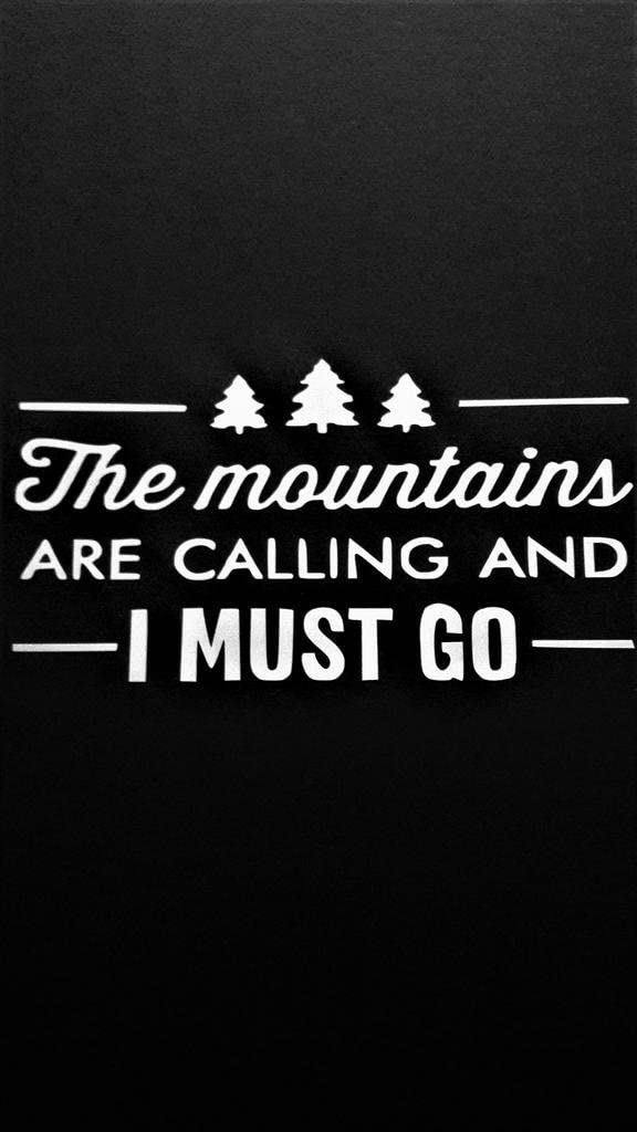 """The Mountains are Calling and I Must Go Hiking Adventure Vinyl Decal Sticker