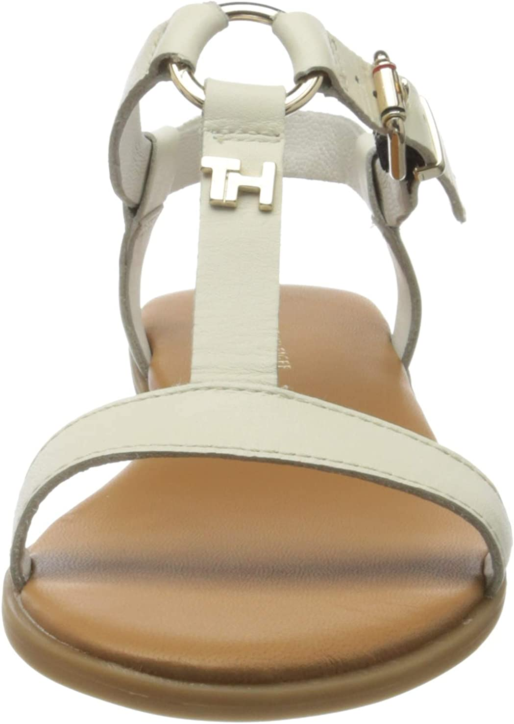 Tommy Hilfiger Feminine Leather Flat Sandal Tongs Femme