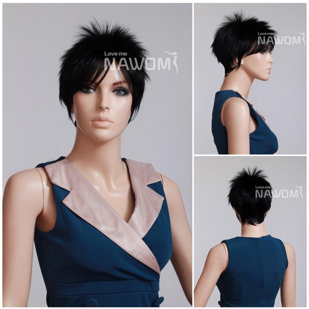 Amazon.com   Women s Short Black Bob Wig For Women Cool Style   Hair  Replacement Wigs   Beauty 3946cc9548